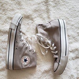 Light gray high top  converse